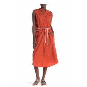 VINCE.  sleeveless utility midi dress
